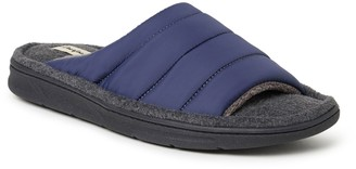 Dearfoams Men's Quilted Nylon Slide Slippers -Max