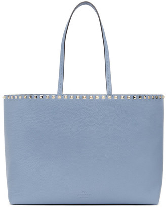 Valentino Blue Large Rockstud Shopping Tote