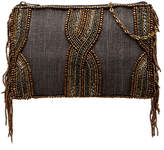 Mary Frances Crisscross Beaded Mini Crossbody Bag