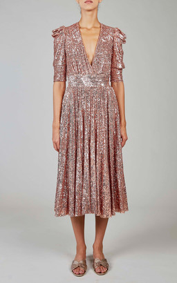 Elie Saab Sequined Midi Dress