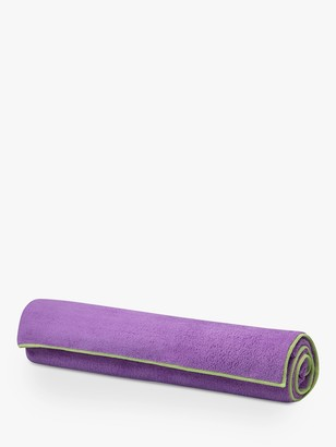 Gaiam Stay-Put Yoga Towel, Purple