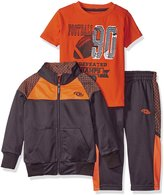 CB Sports Little Boys' Tricot Athletic Jacket and Pant with Graphic T-Shirt