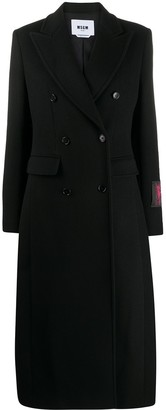 MSGM Double-Breasted Peacoat