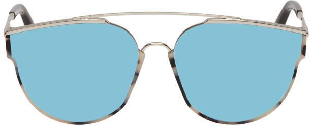 Gentle Monster Silver and Tortoiseshell Loe Sunglasses