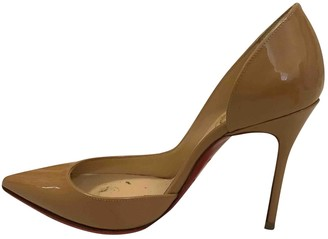 Christian Louboutin Iriza Brown Patent leather Heels