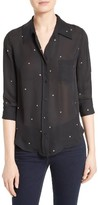 L'Agence Women's Ryan Star Print Silk Blouse