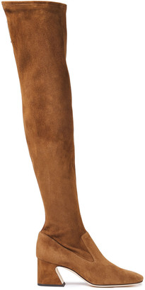 Alberta Ferretti Stretch-suede Over-the-knee Boots