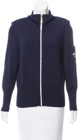St. John Sport Structured Wool Cardigan