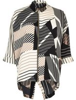 River Island Womens Brown print zip front shirt