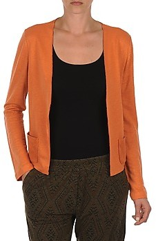 Majestic BERTHILLE women's Cardigans in Orange