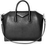 Givenchy 'Medium Antigona' Sugar Leather Satchel - Black