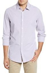 Mizzen+Main Finch Tattersall Trim Fit Button-Up Performance Shirt