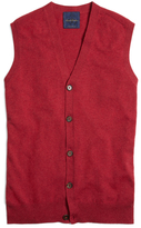 Brooks Brothers Pink Cashmere Button-Front Vest