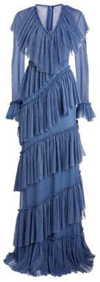 Sandra Mansour Glitter Tulle Gown