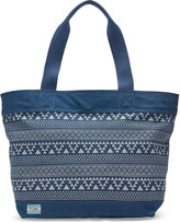 Toms Navy Tribal Geo Canvas Transport Tote Bag