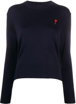 AMI Paris Ami de Coeur patch jumper