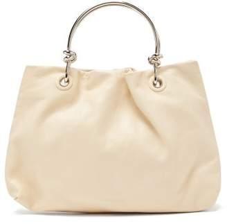 Jil Sander Knot-handle Leather Bag - Womens - White