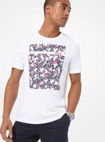Michael Kors Graphic Logo Cotton Jersey T-Shirt