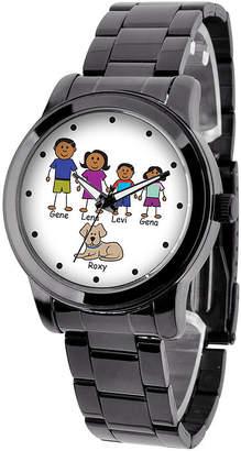 FINE JEWELRY Unisex Adult Black Stainless Steel Bracelet Watch-41478-B
