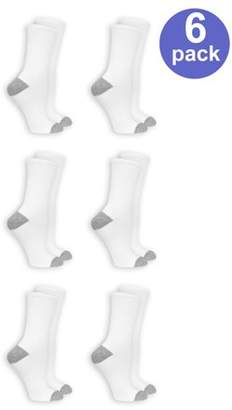 Fruit of the Loom Women's Arch Support Crew Socks, 6 Pack