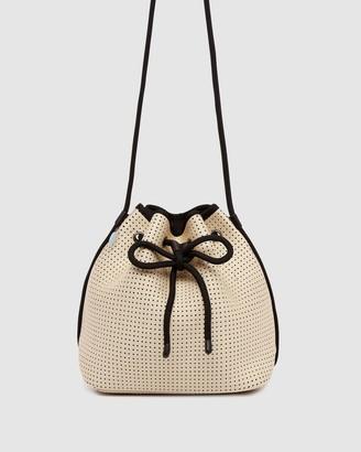 Chuchka Sheina Beige Neoprene Bucket Bag