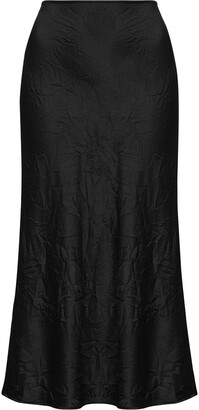 Ganni Crinkled Midi Skirt