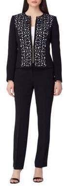 Arthur S. Levine Laser-Cut Zip-Front Jacket