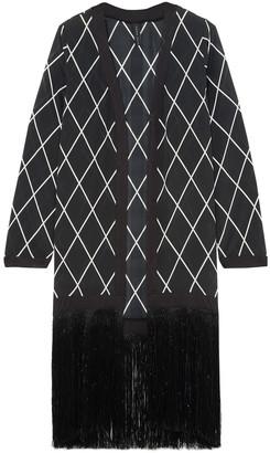 Emma Pake Fringe-trimmed Printed Silk Coverup