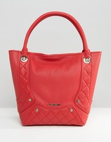 Love Moschino Quilted Panel Tote Bag