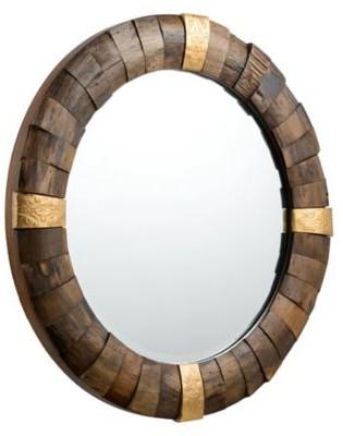 Round Wood Mirror The World S, Carved Wood 35 Round Mirror
