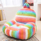 HIGOGOGO Children's Furniture Plush Cartoon Chair Kid's Sofa Toys Colorful Mini Sofa Baby Chair (Colorful)
