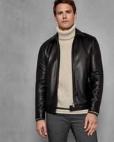 Ted Baker BISKITZ Collared leather jacket