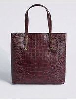 M&S Collection Faux Leather Carry All Shopper Bag