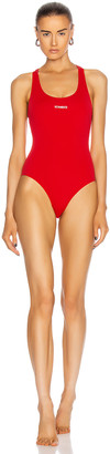 Vetements One Piece Swimsuit in Red | FWRD