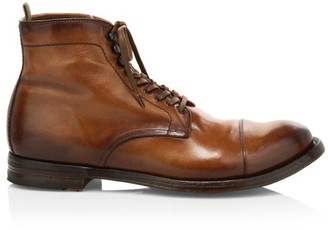 Officine Creative Anatomia Lace-Up Leather Boots