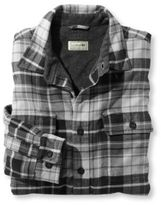 L.L. Bean Men's Fleece-Lined Flannel Shirt, Traditional Fit