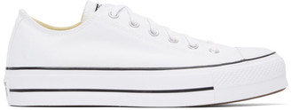 Converse White Leather Chuck Taylor All Star Lift Low Sneakers