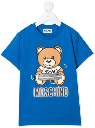 MOSCHINO BAMBINO Gamer Teddy Bear T-shirt