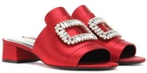 Roger Vivier Slipper New Strass crystal-embellished satin sandals