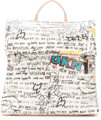 DKNY Tilly graffiti print backpack
