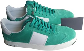 Valentino Rockstud Green Leather Trainers