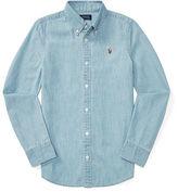 Ralph Lauren 7-16 Cotton Chambray Shirt