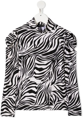 MonnaLisa Zebra Print High Neck Top