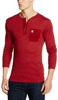 G Star Men's Mazuren Slim Grandad Long Sleeve Henley Shirt