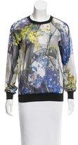 Clover Canyon Floral Print Sheer Top
