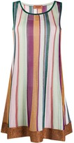 Missoni metallized striped dress