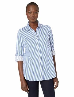Tribal Women's Roll Up Sleeve Stripe Shirt