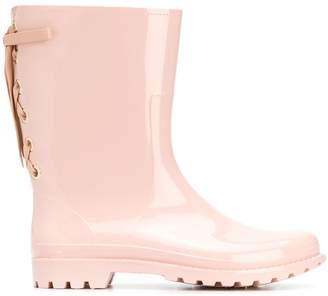 RED Valentino lace-up detail wellies