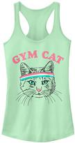 Fifth Sun Women's Tank Tops MINT - Mint 'Gym Cat' Racerback Tank - Women & Juniors