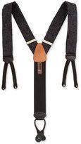 Trafalgar Formal Medford Paisley-Print Suspenders, Black